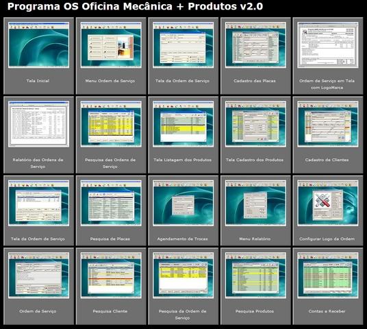 Programa para oficina mec nica com ordem de servi o e for Programas para oficina